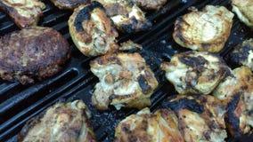 Сгорели мясо bbq Стоковая Фотография