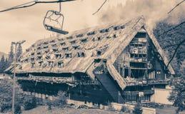 Сгорели младший гостиницы, Словакия Стоковое Изображение