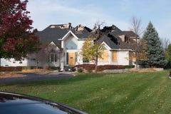 сгорели дом Стоковое Изображение