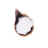 сгорели отверстие Стоковое фото RF
