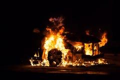 Сгорели пожаром, который корабль автомобиля Стоковые Изображения