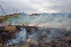 Сгорели поля Стоковое Изображение RF