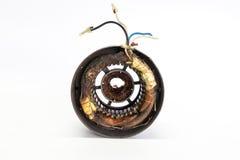 Сгорели статор в электрическом двигателе Стоковая Фотография