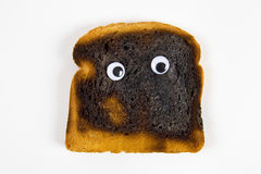 Сгорели хлеб, который Стоковое Изображение