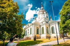 1990 сгорело оригинал katarina церков восстановляя такой же начатый стартом год stockholm Швеции Стоковые Фото