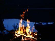 сгорите берег озера Стоковое фото RF