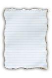 сгорите бумажную белизну Стоковое Изображение RF