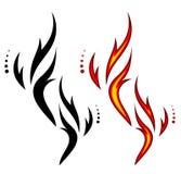 сгорите вектор Стоковые Фото