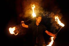 Сгорите выставку Танец с штатом стоковое изображение