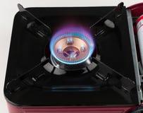 сгорите газовую плиту пламени Стоковое Изображение RF