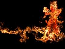 сгорите женщину Стоковые Фотографии RF