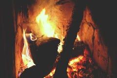 сгорите камин Стоковые Изображения
