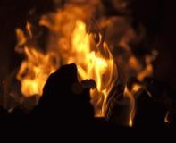 сгорите камин Стоковое Фото