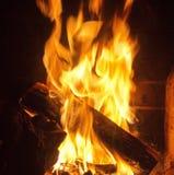 сгорите камин Стоковое Изображение