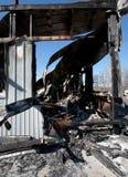 Сгорите руину Стоковое фото RF