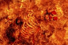 сгорите скелет Стоковое Изображение RF