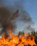 сгорите флаг Стоковые Изображения RF
