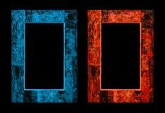сгорите льдед античный тип рамок Картинная рамка Стоковые Фотографии RF