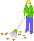 сгребать листьев ванты Стоковые Изображения RF