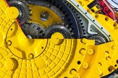 Сгребенный бульдозером механизм зубчатого колеса привода Стоковые Изображения