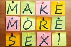 сделайте больше секса Стоковые Фотографии RF