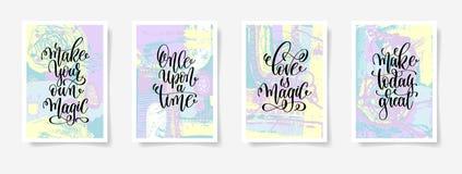 Сделайте ваше собственное волшебство, когда-то, влюбленность волшебный, сделайте сегодня бесплатная иллюстрация