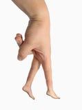 сделайте перста препятствуйте гулять ваш Стоковое Фото