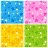 сделайте по образцу безшовную звезду Стоковые Изображения