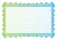 Сделайте по образцу которое использовано в валюте и дипломах Стоковая Фотография