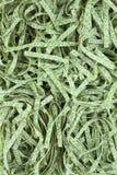 Сделайте по образцу сухое tagliatelle шпината макаронных изделий, гнезда fettuccine стоковые фото
