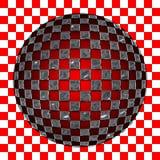 сделайте по образцу spherized серебр приданным квадратную форму Стоковые Фото