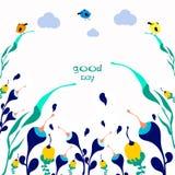 Сделайте сегодня позитв хорошего дня рукописный помечая буквами бесплатная иллюстрация