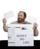 сделайте список меда Стоковые Изображения RF