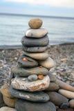 сделанная башня камушков Стоковое Изображение