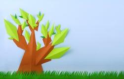 Сделанная бумага вала зеленого цвета взгляда лета Стоковое Изображение RF