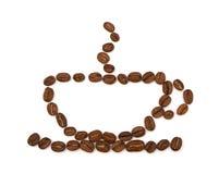 сделанная кофейная чашка фасолей Стоковые Фотографии RF