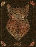 Сделанная по образцу голова хряка свинья swine стоковое изображение rf