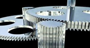 сделанная шестерня крома Стоковые Фото
