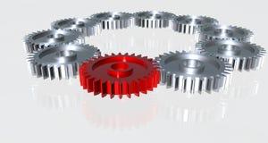 сделанная шестерня крома Стоковое Изображение RF