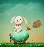 сделанное изображение пасхального яйца иллюстрация штока