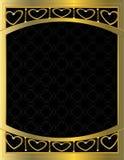 сделанное по образцу сердце золота 10 предпосылок Стоковая Фотография