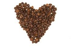 сделанное сердце кофе фасоли предпосылки Стоковая Фотография RF