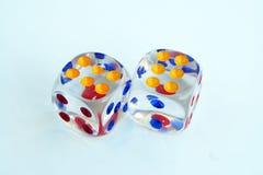 Сделанное стекло dices Прозрачное стекло dices Стоковые Изображения RF