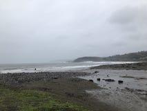 Сделанные встречи утра Lindamar Pacifica занимаясь серфингом стоковое фото rf