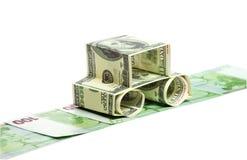 сделанные доллары автомобиля Стоковая Фотография RF