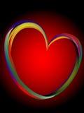 сделанные линии сердца цвета иллюстрация вектора