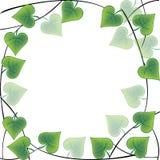 сделанные листья рамки иллюстрация штока