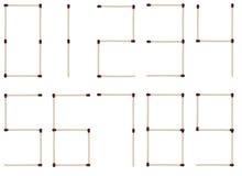 сделанные номера спичек Стоковое Изображение RF