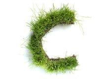 сделанные письма травы стоковая фотография rf