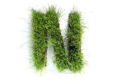 сделанные письма травы стоковое изображение rf